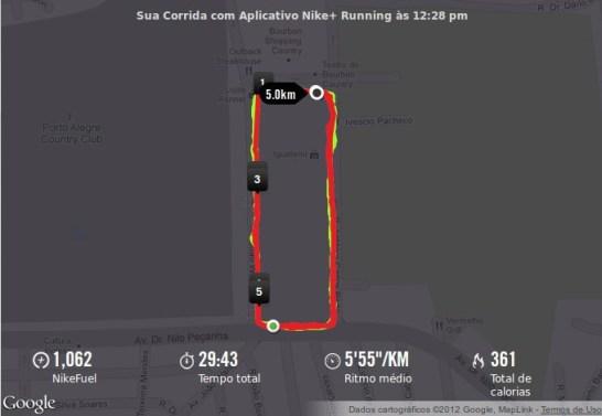 Corrida com localização a partir do GPS.