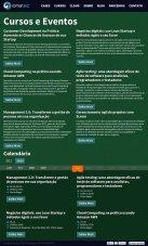 Calendário de cursos e eventos