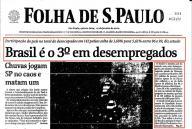 Brasil é o 3º em desempregados (27/janeiro/2000)