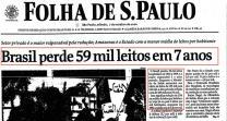 Brasil perde 59 mil leitos em 7 anos (07/outubro/2000)