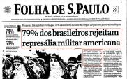 79% dos Brasileiros rejeitam represália militar americana (23/setembro/2001)