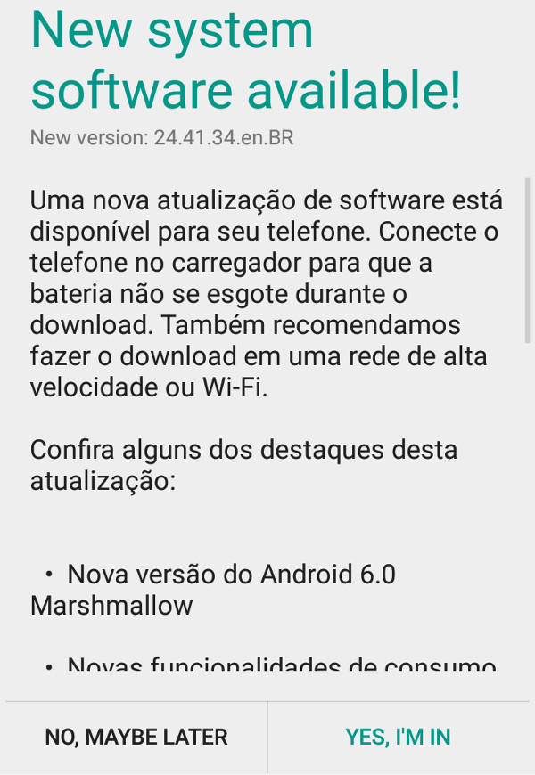 Android Marshmellow! \o/