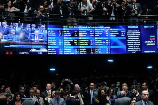 Plenário do Senado Federal em 31 de agosto de 2016