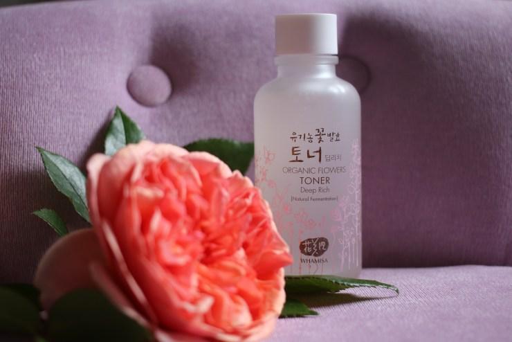 Korean skincare: Whamisa Organic Flowers Toner Deep Rich