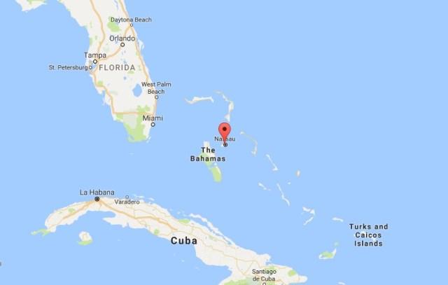 Bahama adaları haritası