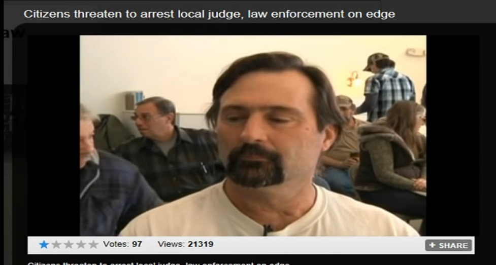 CITIZENS THREATEN TO ARREST LOCAL JUDGE , LAW ENFORCEMENT ON EDGE