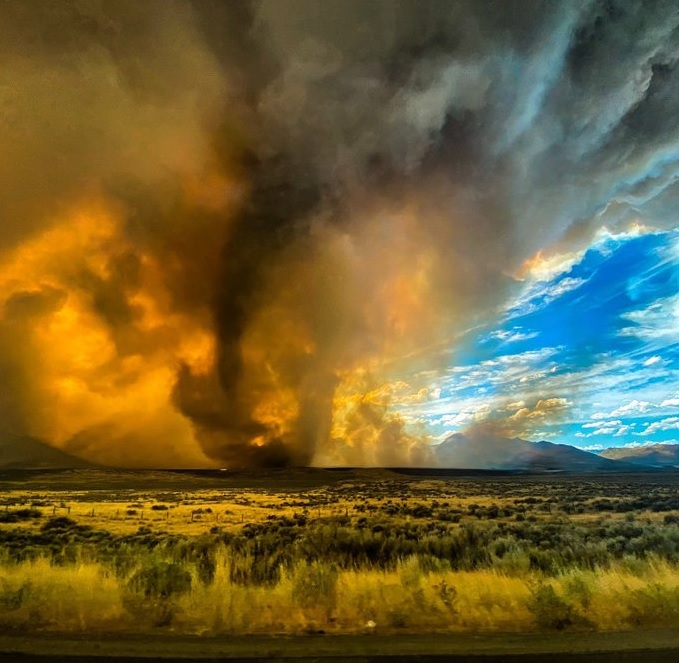 Firenado: National Weather Service issues America's first-ever warning for a fire tornado