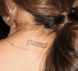Top 5 des  tatouages sur la nuque de stars