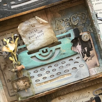 Write Your Own Story-Featuring the Tim Holtz Sizzix Retro Type Bigz