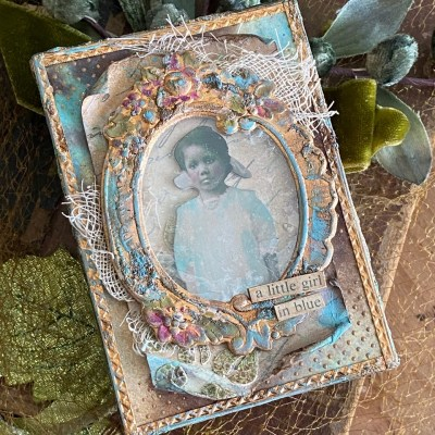 a little girl in blue…and by blue, I mean salvaged patina