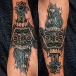 Ambigram tattoo Balinese spirits Endry Dharma Star Angels