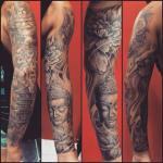 budha sleeve by eka waves balinese tattoo artist