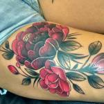 flower cover up by Kink Tattoo at MA Tattoo Bali May 2017