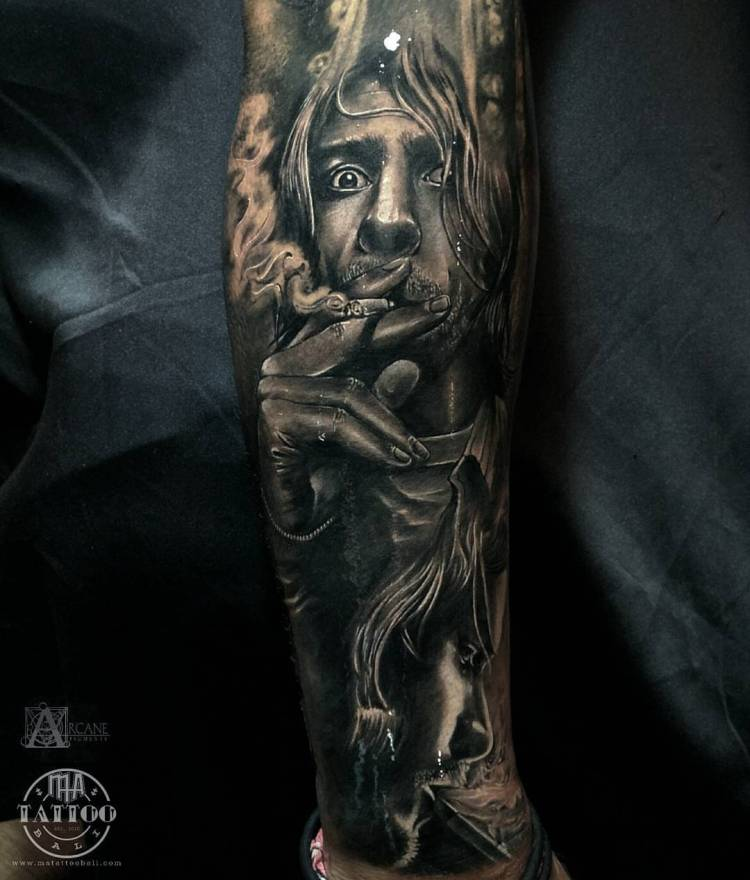 Kurt Cobain Sleeve by Prima Ma Tattoo Bali