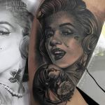 Marilyn Monroe Tattoo by Ukix - Luxury Ink Bali