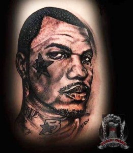 portrait tattoo the game - public enemy ink kuta bali