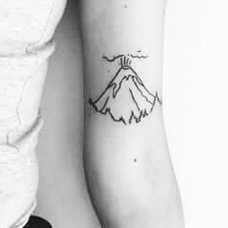 volcano tattoo by rudist marmar