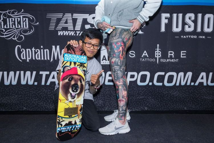 Ata Ink Wins Best Large Tattoo at Perth Tattoo Show