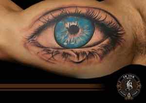 Blue eye inside arm tattoo by naradj tattoo JB Ink Tattoo Bali