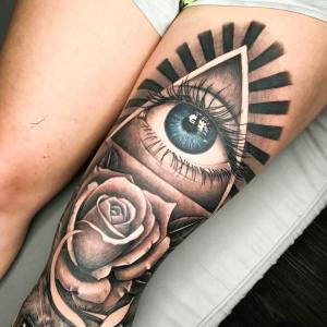 Eye tattoo by Turah Ink - Notorious Ink Bali