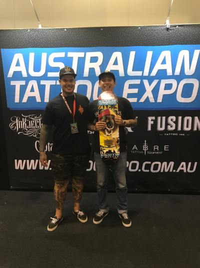 Gunz Tattoo Wins Best Traditional Tattoo Contest in Perth Australian Tattoo Expo 2018