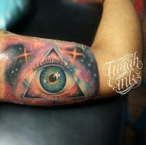 Psychadelic eye tattoo freehand by Turah Ink A.A Ngurah Pradnya Dinata
