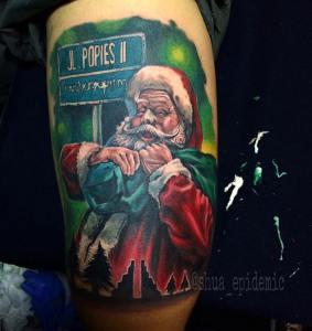 Santa Claus Poppies II Bali Tattoo