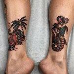 Bali traditional tattoos by Adjul and Guntur Feb 2019