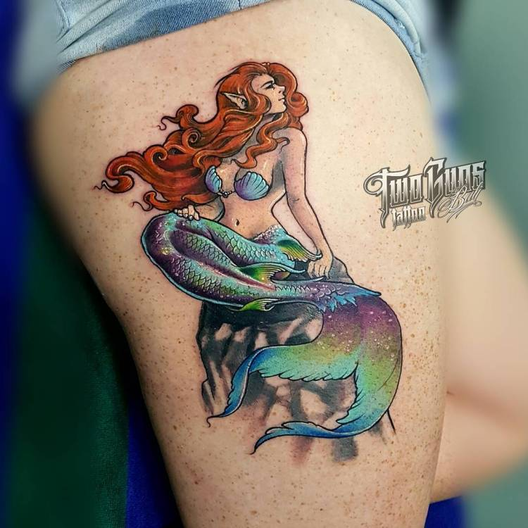 Elvish mermaid tattoo RickyTNT