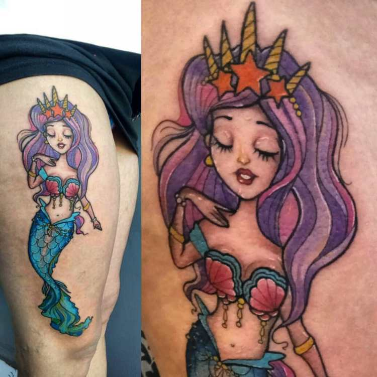 Purple-haired-mermaid-tattoo-for-Renee-by-Agung-Blondy