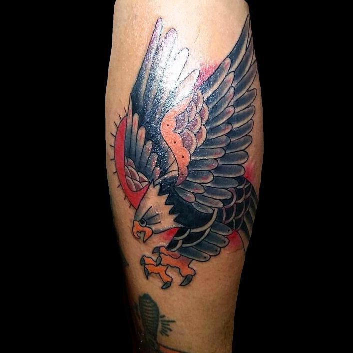 trad eagle by wah ink tattoo bali