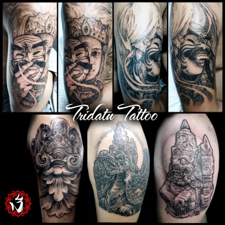 Balinese tattoos naga dragon barong guardian