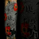 Lest We Forget lettering tattoo by Komeng Inked Bali