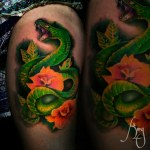 Color tattoo by Komeng Inked Bali