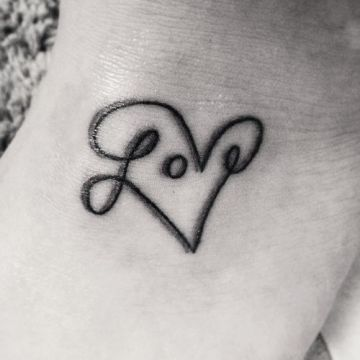 Awesome love tattoo