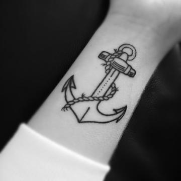 Simple anchor tattoo