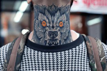 Beast Neck Tattoo