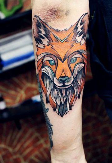 Fox Elbow Tattoo
