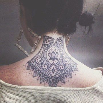 Back Neck Black Ink