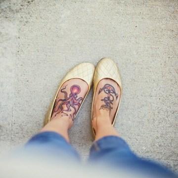Beautiful Girl's Feet Tattoos