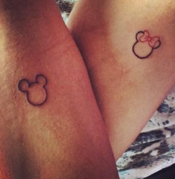 Mickey And Minnie Cute Tattoo