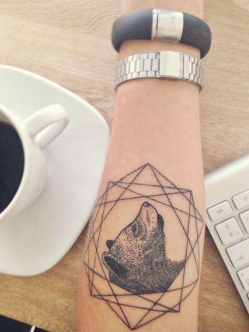 Bear Tattoo By Karolina Bebop