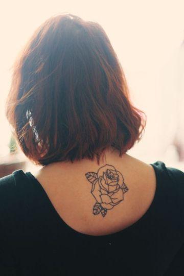 Beautiful Black Inked Rose