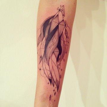 Ornamental Feather Tattoos