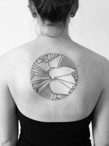 Minimal Circle Tat On Back