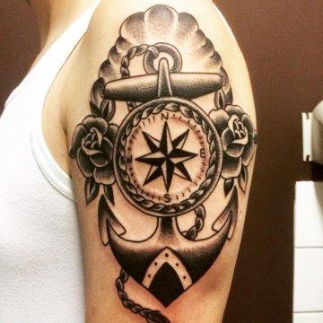 Nautical Arm Tattoo