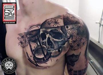 Hourglass & Skull