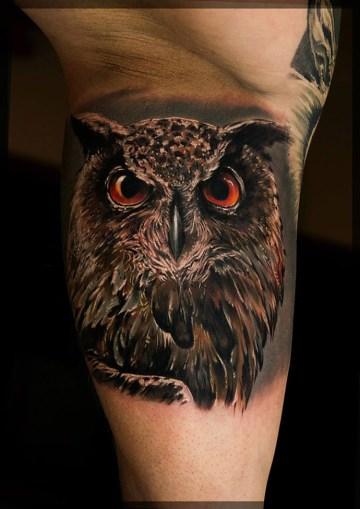 Owl Realism Tattoo