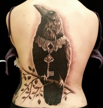 Fancy Raven Tattoo