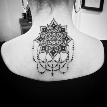 mandala & teardrop necklace